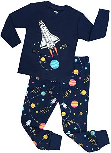 shelry Boys Rocket Pajamas Children Christmas Pants Set 100% Cotton Size 5 Years Blue