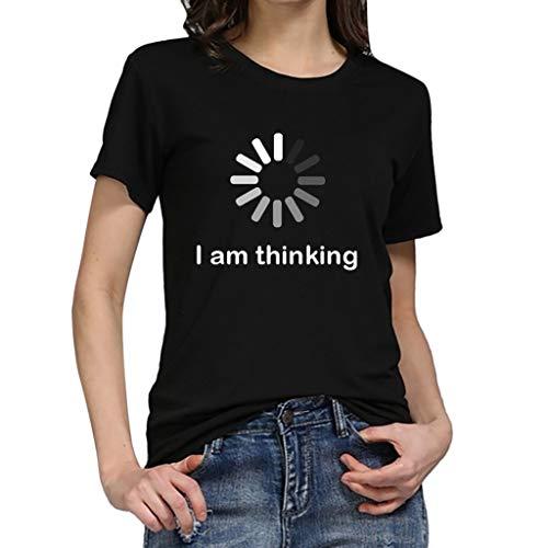TWIFER Logo Sommer Shirt Damen Kurzarm T Shirt Mädchen Plus Size Gedruckt Tees Shirts Bluse Tops