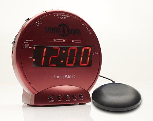 Geemarc Telecom S.A SBB500SSR-I Sonic Bomb, Vibrationswecker, Kunststoff, Plastik, Metal, Rot, One Size