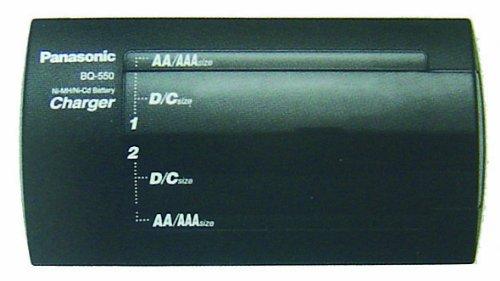 Panasonic BQ-550: Universal Charger - Ladegeräte für Batterien (Schwarz, 50/60 Hz, 6 h, AAA/AA/C/D / 9V)
