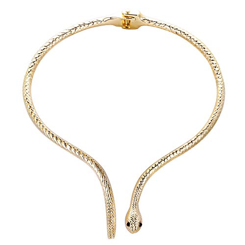 EVER FAITH Collar Colgante Mujer Cristal Austríaco Fiesta Serpiente Gargantilla Tono Dorado