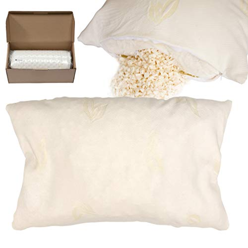Infi-Touch Life - Premium Adjustable Pillow - Cross-Cut 100% All-Natural Latex Filled Double Washable Fabric Cover. (2, King)