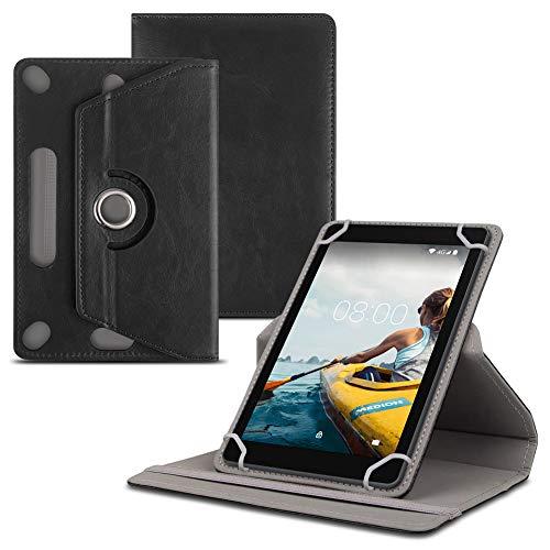 Tablet Schutz Hülle kompatibel für Medion Lifetab E10702 MD61614 Kunstleder Standfunktion Tasche Cover Hülle in Schwarz