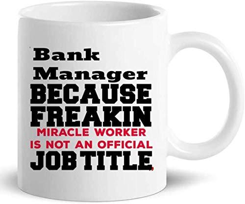 Not Applicable Bankmanager-Becher-Kaffeetasse - Kollege-Büro-Geschenk für Männer Frauen
