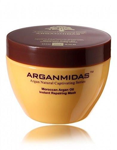 Arganmidas Moroccan Arganöl Feuchtigkeits Intensiv- und Repair Maske 300 ml – regenerierende und pflegende Haarkur