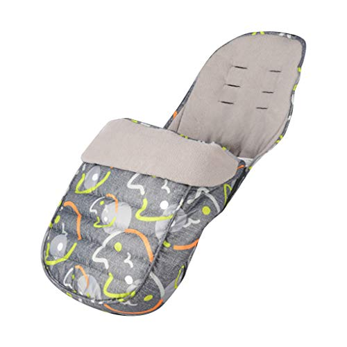 Manyao - Saco universal para cochecito, saco de invierno impermeable, manta para bebé recién nacido, accesorio para silla de paseo (gato gris)