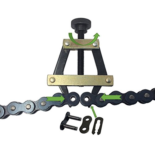 Aobbmok #25#35#41#40#50#60 415H,428H, 520,530 Roller Chain Connecting Puller Holder for Motorcycle Bicycle Go Kart ATV Chains Replacement