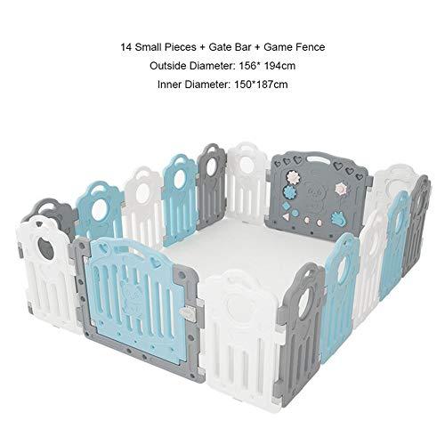 ASDFGHJKL Klappbarer Laufstall für Babys, tragbarer Sicherheitszaun für Kleinkinder, Spielplatz für Sicherheitspersonal für Kinder, Indoor Outdoor Activity Center Play Pen,Blau,C