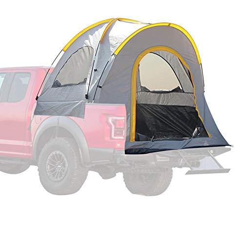 Pickup Truck Zelt 5,5ft, Easy Set Wild Camping Auto Heck Zelt, wasserdichtes Angeln Wandern Höhlenpicknick Picknick im Freien Reisezelt (Gelb)