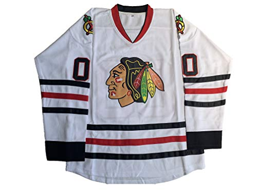 Men Clark Griswold Jersey #00 X-Mas Christrmas Vacation Movie Ice Hockey Jerseys Stitched S-XXXL (White, X-Large)