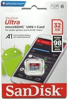 SanDisk microSDHC 98MB/s 32GB Ultra サンディスク SDSQUAR-032G-GN6MN 海外パッケージ品 [並行輸入品]