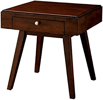 0781d57cf0b Amazon.com  Yaheetech End Side Table Nightstand with Storage Drawer ...