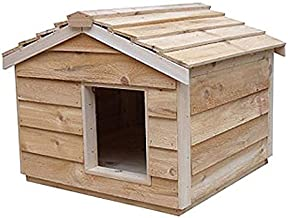 CozyCatFurniture Cedar House for Outdoor or Feral Cats, Thermal-ply Insulation, Waterproof Cat Shelter, Easy Assembly