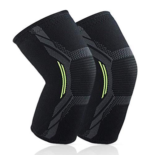 Sportout 2er Pack Kniebandage,Elastische atmungsaktive Knieschoner,Anti-Rutsch Kompression Knieorthese perfekt für Meniskusriss, Arthritis, Sehnenentzündung, Laufen,Kniebeugen,Sport, Damen und Herren