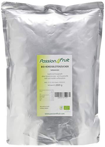 Passion4Fruit Bio Kokosblütenzucker Natürliches Süßungsmittel sowie Zucker-Alternative, 2 kg