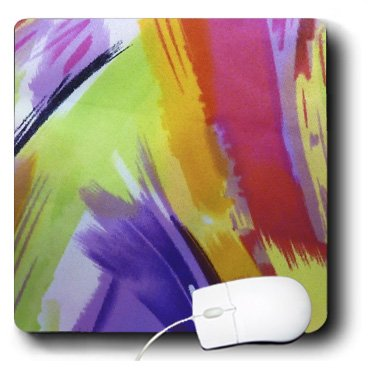 3drose LLC 20,3x 20,3x 0,6cm Maus Pad, moderne lackiert purple/lime/orange abstrakt (MP Außenstandleuchte 1)