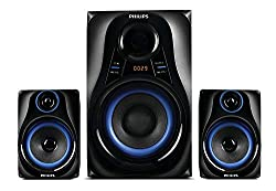 Philips Dhoom MMS2580B/94 Home Theater System (Blue),TPV Technology India Pvt Ltd,MMS2580B/94,2.1 channel speaker system,Philips Blue Dhoom speaker,Philips speaker,Philips speaker Micro USB,Philips speakers 2.1 channel,speaker Philips MMS2580B/94,usb speaker