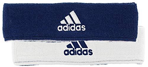 adidas Unisex Interval Reversible Headband, Team Navy Blue/White White/Team Navy Blue, ONE SIZE