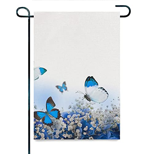 Flachs Gartenflagge, hellblau, blaue...