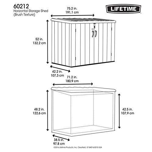 Lifetime Mülltonnenbox Kunststoff Mülltonnenbox, Gerätebox, Aufbewahrungsbox Dunkelgrau - 4