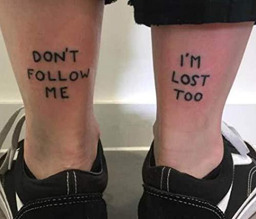 BLOUR Temporäre Tattoo Aufkleber wasserdichte Tattoos Persönlichkeit Buchstaben Worte Gefälschte Tatto Aufkleber Aufkleber Tatoo Body Art Für Frauen Mädchen Männer