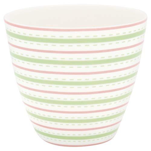 GreenGate - Becher, Tasse, Kaffeebecher, Latte Cup - Sari - Porzellan - Höhe 9 cm