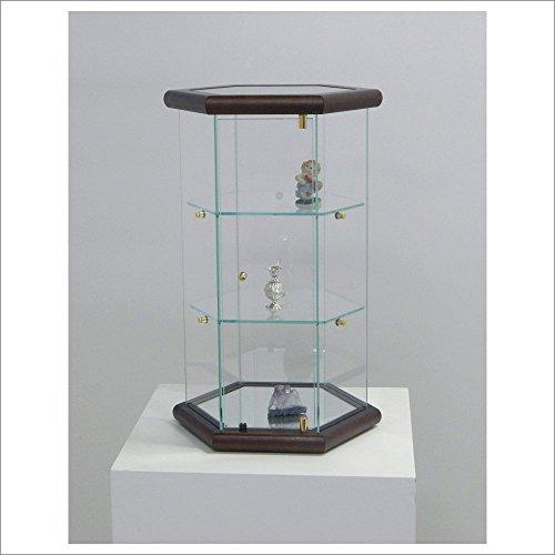 VM ART DESIGN GLASS Petite Vitrine d'exposition VM113T (Noyer foncé)