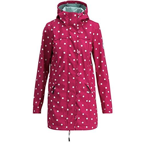 Blutsgeschwister Wild Weather Long Anorak Damen Jacke Mantel, Größe:XXL, Farbe:Rot (pink Point)
