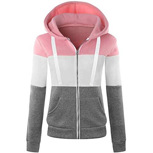 MINIKIMI winterjas dames met capuchon sweatshirt warm hoodie jack casual lange mouwen capuchon herfst winter sportieve outdoor rits gebreide jas met zakken