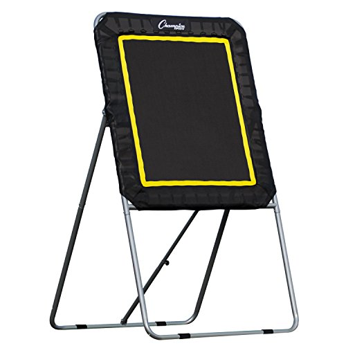 Champion Sports LBT43 Deluxe Lacrosse Target: Ball Return Bounce Back Net Set for Professional, College and Grade School Training & Drills