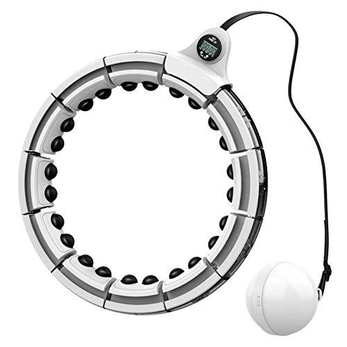 ZDXY Terapia magnética Ponderada Hula Hoop Nunca Cae 2 en 1 Fitness Tamaño de Masaje de 360 Grados Ajustable y extraíble para la Circunferencia de la Cintura de 23 a 43 Pulgadas