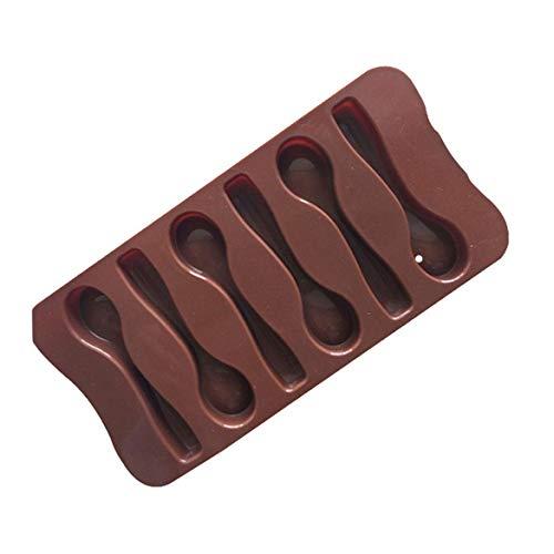 Banbie 6 Löffel Form Schokoladenform Tablett für hausgemachte DIY Backform Kuchen Muffin Backform Eiswürfel Tablett