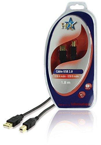 HQ HQBF-M141 - Cable USB (1,8 m, USB A, USB B, 2.0, Male Con