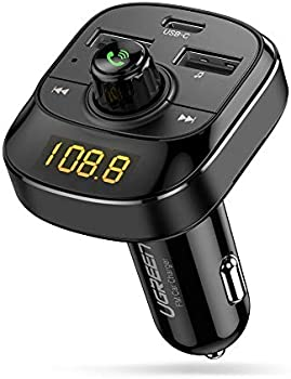 UGREEN Car Bluetooth FM Transmitter with 3 USB Ports