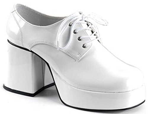 Mens Animal Dress Shoes Theatre Costumes Accessory Disco Shoe Size: Medium Colors: WhitePatent