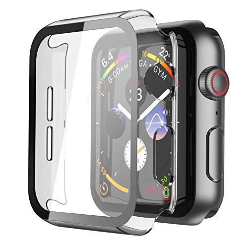 Recata Transparente Coque Apple Watch Serie 6 Se Series 5 Serie 4 40mm, Protection écran iWatch [Couverture Complète] Protection ecran Apple Watch PC Verre trempé Ultra Mince Coque - HD Clair