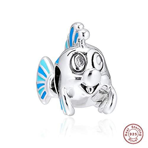 MOCCI 2019 herbst die kleine meerjungfrau flunder perle 925 silber diy passt für original pandora armbänder charme modeschmuck