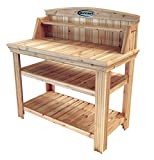 Suncast Cedar Freestanding Organizer Garden Bench with Storage