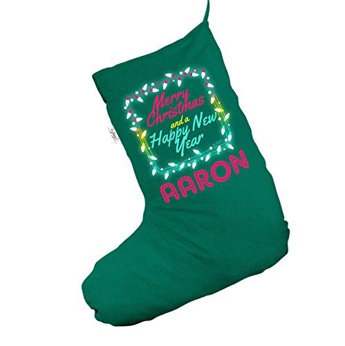 Personalizzazione Merry Christmas Jumbo Green Deluxe calza di Natale