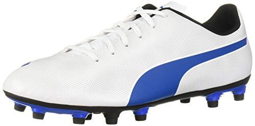 PUMA mens Rapido Firm Ground Sneaker, Puma White-royal Blue-light Gray, 7 US