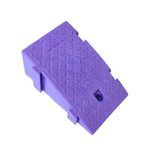 DJSMxpd Rampas Portátil Durable Plástico Rampas for Silla de Ruedas, Antideslizante Banda de Rodadura Y Carriles Vehículo Moto Asistencia de Aparcamiento (Color : Purple, Size : 25 * 45 * 19CM