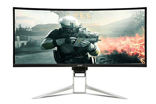 Acer XR342CKPbmiiqphuzx 34 Inch WQHD Curved 1900R Gaming Monitor, Black (IPS Panel, FreeSync, 100 Hz, 1 ms, HDR Ready, ZeroFrame, DP, HDMI, USB Hub, Height Adjustable Stand)