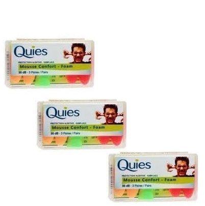 Quies Foam Ear Plugs 3 Pairs-PACK OF 3 by Quies