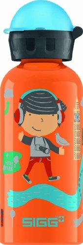 Sigg Bouteille Travel Boy London 0.4 L Mixte Enfant, Bleu