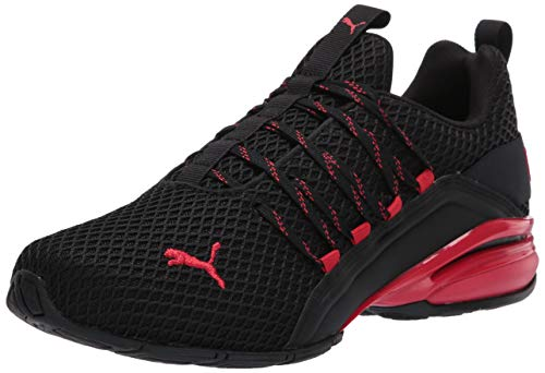 PUMA mens Axelion Spark Cross trainer, Black/High Risk Red, 10.5 US