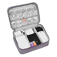 PC スマホ 小物 収納 ポーチ トラベルポーチ ガジェットポーチ モバイル 収納ポーチ 小物入れポーチ USBメモリ 収納 ケース PC周辺小物整理 撥水加工 携帯便利 旅行用 (1層-グレー)