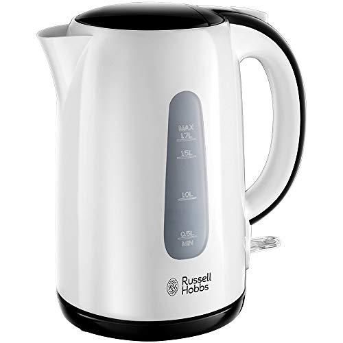 Russell Hobbs My Breakfast - Hervidor de Agua Eléctrico (2200W, 1,7l, Plástico, sin BPA, Blanco y Negro) -ref. 25070-70
