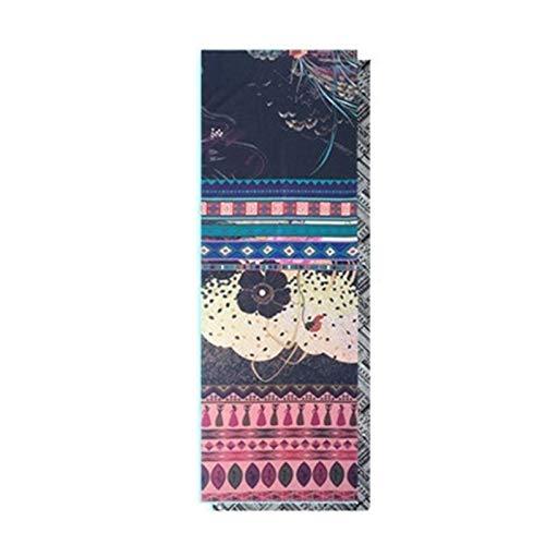 Manta al aire libre Toalla de alfombra de yoga - 2pc 183x63cm Microfibra Impresa de doble cara 185 * 65cm Absorbente de sudor ASWORT ASWARD TOTAL DE YOGA PILATES PILATES CUBRA DE CUBIERTA YOGA Manta d