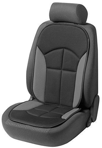 CarComfort Bequeme Universal Auto Sitzauflage Novara grau, hohes Rückenteil, 30 Grad waschbar, alle PKW