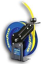 Goodyear Acero retráctil compresor de Aire/Agua con Carrete de Manguera de 3/8 pulg. Manguera de Goma, MAX x 25 pies. 300psi